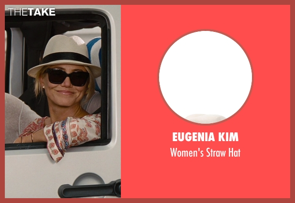 Eugenia Kim white hat from The Other Woman seen with Cameron Diaz (Carly Whitten)