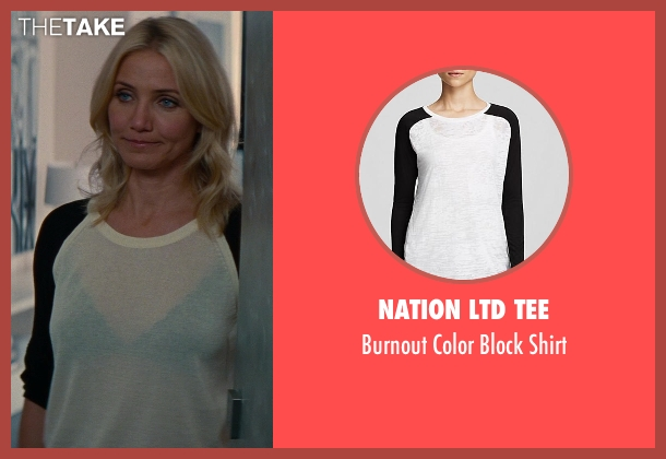 Nation LTD Tee white shirt from The Other Woman seen with Cameron Diaz (Carly Whitten)