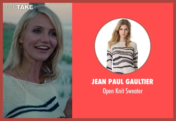 Jean Paul Gaultier white sweater from The Other Woman seen with Cameron Diaz (Carly Whitten)