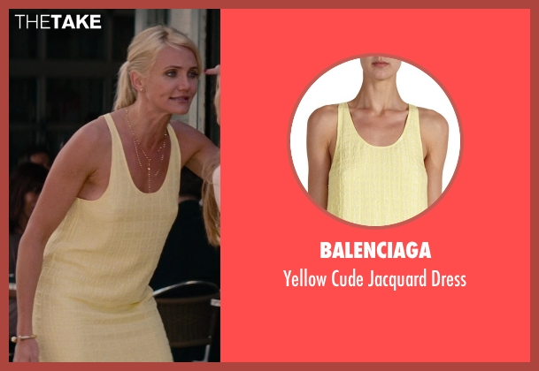 Balenciaga yellow dress from The Other Woman seen with Cameron Diaz (Carly Whitten)