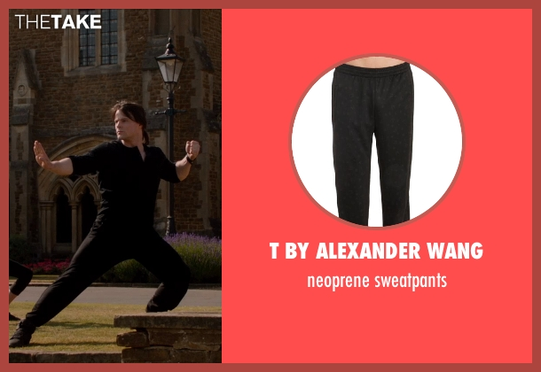 T BY ALEXANDER WANG black sweatpants from Vampire Academy seen with Cameron Monaghan (Mason)
