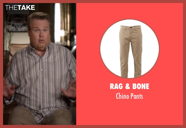 Rag & Bone beige pants from Modern Family seen with Cameron Tucker  (Eric Stonestreet)