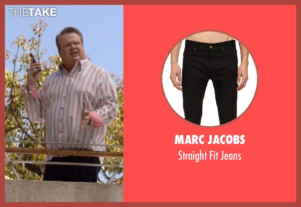 Marc Jacobs black jeans from Modern Family seen with Cameron Tucker  (Eric Stonestreet)
