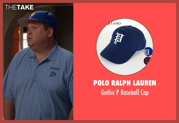 Polo Ralph Lauren blue cap from Modern Family seen with Cameron Tucker  (Eric Stonestreet)