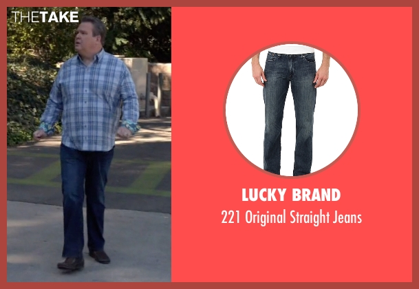Lucky Brand blue jeans from Modern Family seen with Cameron Tucker  (Eric Stonestreet)