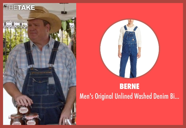 Berne blue overall from Modern Family seen with Cameron Tucker  (Eric Stonestreet)