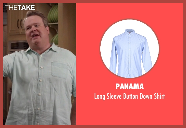 Panama blue shirt from Modern Family seen with Cameron Tucker  (Eric Stonestreet)
