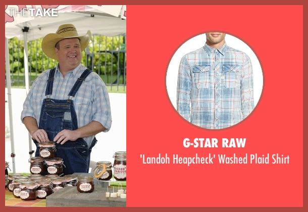 G-Star Raw blue shirt from Modern Family seen with Cameron Tucker  (Eric Stonestreet)