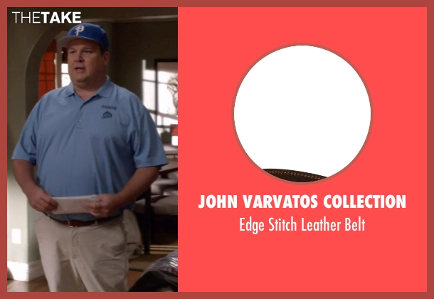 John Varvatos Collection brown belt from Modern Family seen with Cameron Tucker  (Eric Stonestreet)