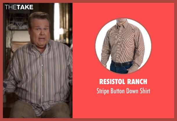 Resistol Ranch brown shirt from Modern Family seen with Cameron Tucker  (Eric Stonestreet)