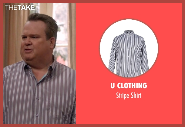 U Clothing  gray shirt from Modern Family seen with Cameron Tucker  (Eric Stonestreet)