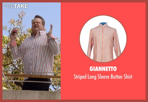 Giannetto orange shirt from Modern Family seen with Cameron Tucker  (Eric Stonestreet)