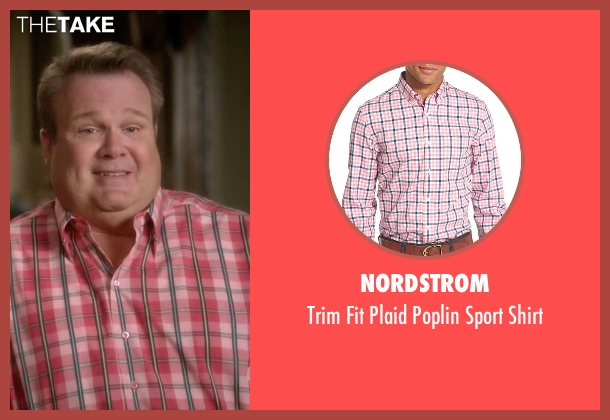 Nordstrom pink shirt from Modern Family seen with Cameron Tucker  (Eric Stonestreet)