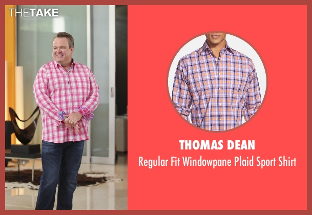 Thomas Dean pink shirt from Modern Family seen with Cameron Tucker  (Eric Stonestreet)