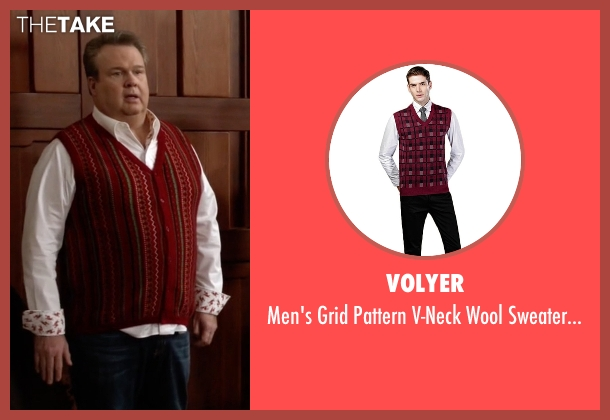 Volyer red vest from Modern Family seen with Cameron Tucker  (Eric Stonestreet)