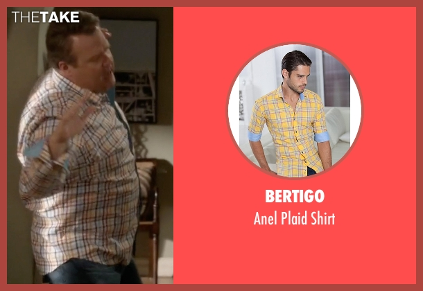 Bertigo yellow shirt from Modern Family seen with Cameron Tucker  (Eric Stonestreet)