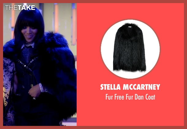 Stella McCartney black coat from Empire seen with Camilla Marks (Naomi Campbell)