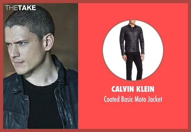 Calvin Klein black jacket from The Flash seen with Captain Cold (Wentworth Miller)