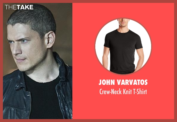 John Varvatos black t-shirt from The Flash seen with Captain Cold (Wentworth Miller)