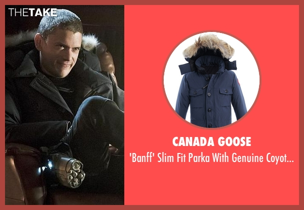 Canada Goose blue trim from The Flash seen with Captain Cold (Wentworth Miller)