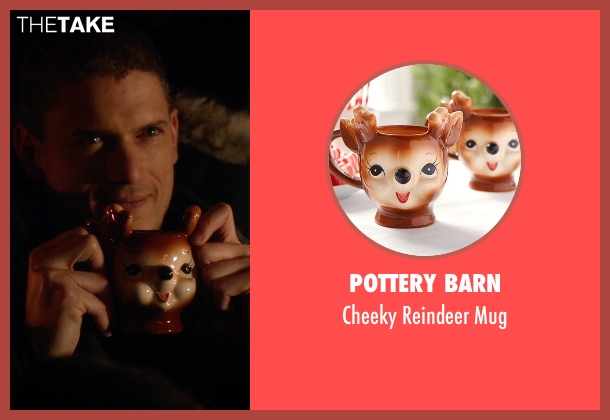 Pottery Barn mug from The Flash seen with Captain Cold (Wentworth Miller)