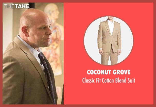 Coconut Grove beige suit from Rosewood seen with Captain Ira Hornstock (Domenick Lombardozzi)