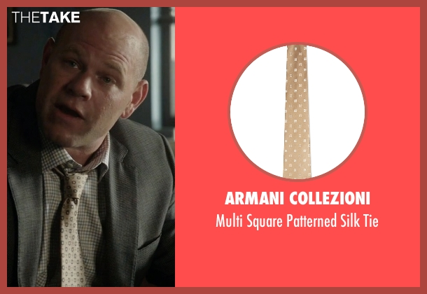 Armani Collezioni beige tie from Rosewood seen with Captain Ira Hornstock (Domenick Lombardozzi)