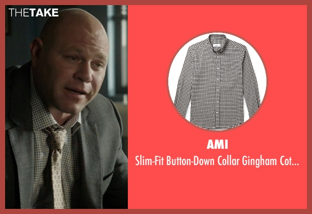 Ami black shirt from Rosewood seen with Captain Ira Hornstock (Domenick Lombardozzi)