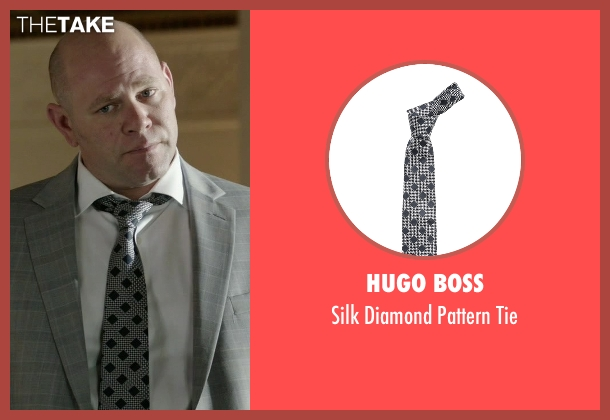 Hugo Boss black tie from Rosewood seen with Captain Ira Hornstock (Domenick Lombardozzi)