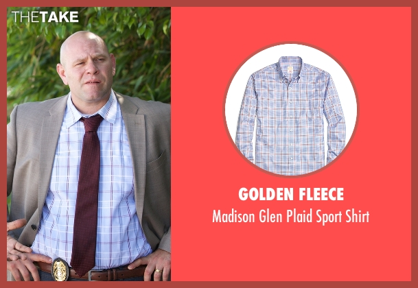 Golden Fleece blue shirt from Rosewood seen with Captain Ira Hornstock (Domenick Lombardozzi)