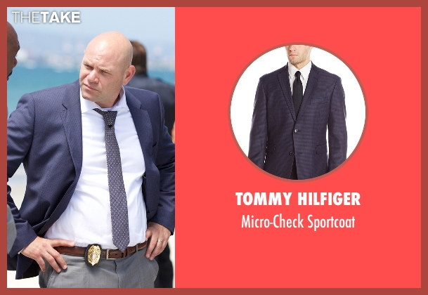 Tommy Hilfiger blue sportcoat from Rosewood seen with Captain Ira Hornstock (Domenick Lombardozzi)