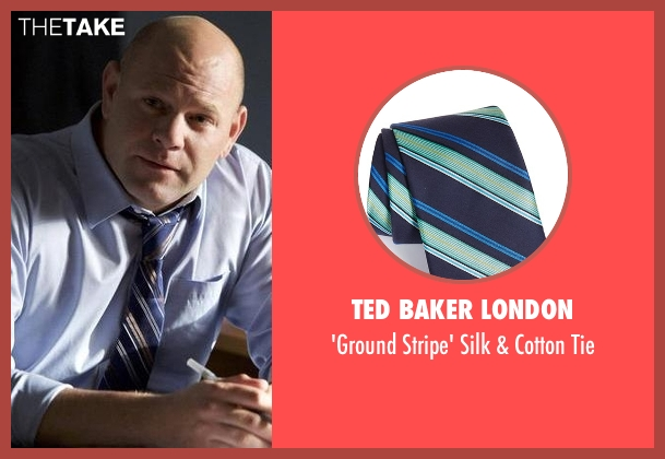 Ted Baker London blue tie from Rosewood seen with Captain Ira Hornstock (Domenick Lombardozzi)