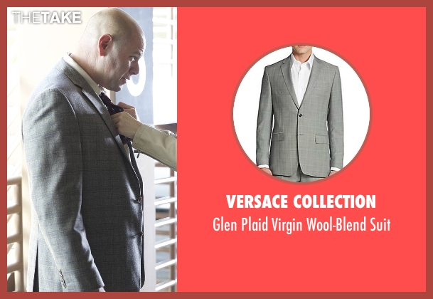 Versace Collection gray suit from Rosewood seen with Captain Ira Hornstock (Domenick Lombardozzi)