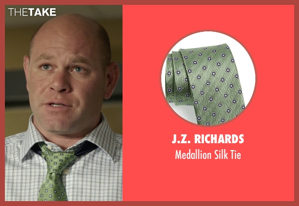 J.Z. Richards green tie from Rosewood seen with Captain Ira Hornstock (Domenick Lombardozzi)