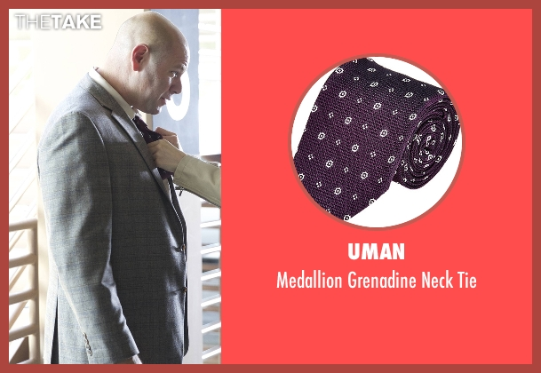 Uman purple tie from Rosewood seen with Captain Ira Hornstock (Domenick Lombardozzi)