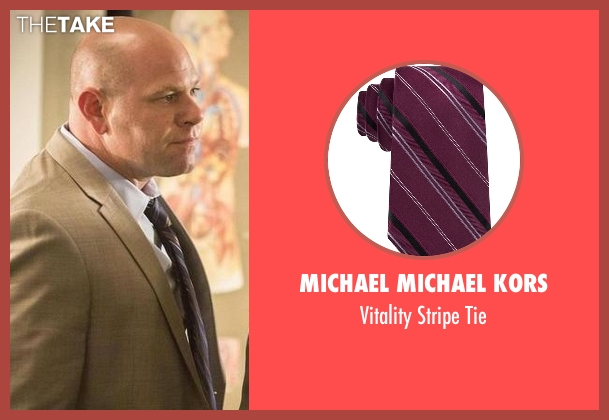Michael Michael Kors purple tie from Rosewood seen with Captain Ira Hornstock (Domenick Lombardozzi)