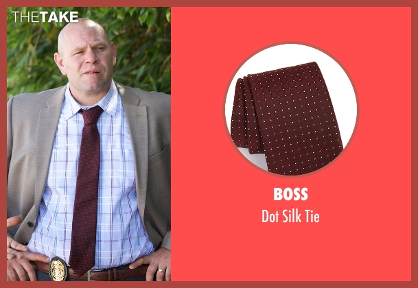 Boss red tie from Rosewood seen with Captain Ira Hornstock (Domenick Lombardozzi)