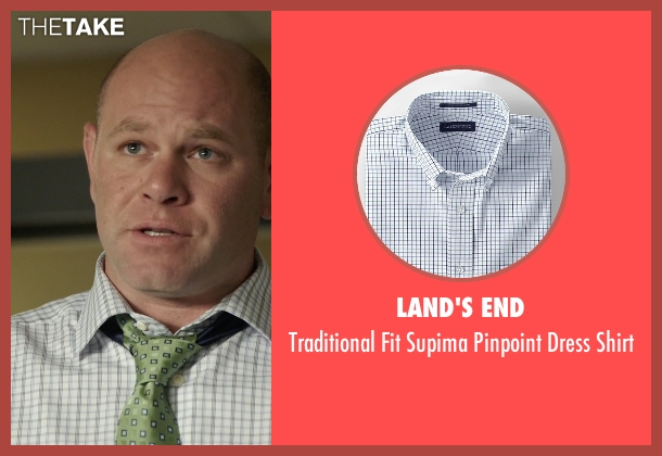 Land's End white shirt from Rosewood seen with Captain Ira Hornstock (Domenick Lombardozzi)