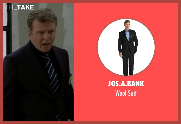 Jos.A.Bank black suit from Elementary seen with Captain Thomas Gregson (Aidan Quinn)