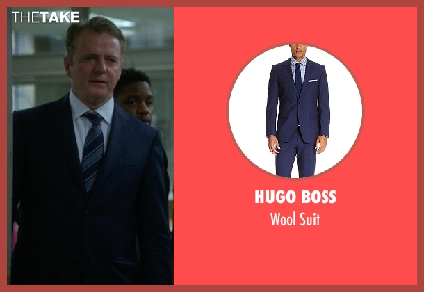 Hugo Boss blue suit from Elementary seen with Captain Thomas Gregson (Aidan Quinn)