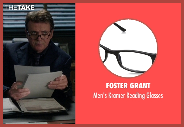 Foster Grant glasses from Elementary seen with Captain Thomas Gregson (Aidan Quinn)