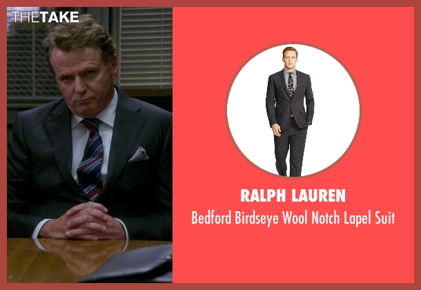 Ralph Lauren gray suit from Elementary seen with Captain Thomas Gregson (Aidan Quinn)
