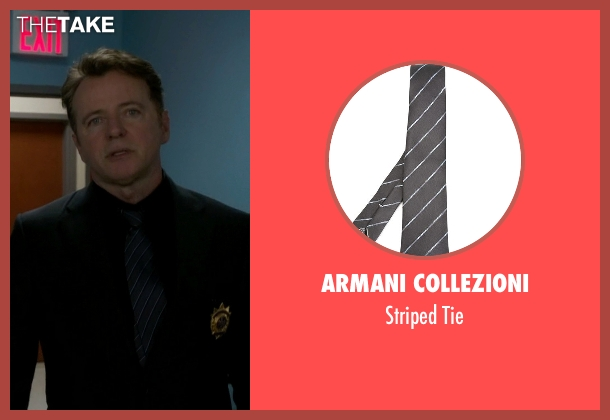 Armani Collezioni gray tie from Elementary seen with Captain Thomas Gregson (Aidan Quinn)
