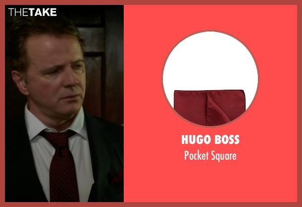 Hugo Boss red square from Elementary seen with Captain Thomas Gregson (Aidan Quinn)