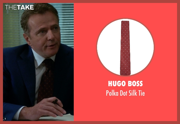 Hugo Boss red tie from Elementary seen with Captain Thomas Gregson (Aidan Quinn)