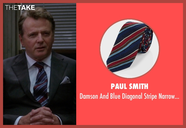 Paul Smith tie from Elementary seen with Captain Thomas Gregson (Aidan Quinn)