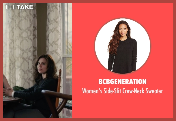 BCBGeneration black sweater from Paper Towns seen with Cara Buono (Connie Jacobsen)