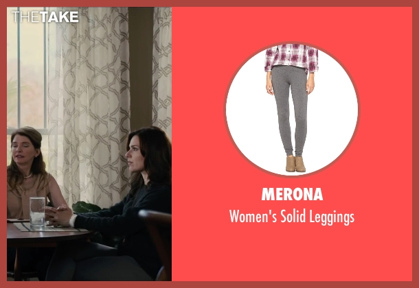 Merona gray leggings from Paper Towns seen with Cara Buono (Connie Jacobsen)