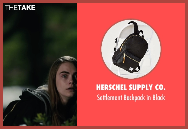 Herschel Supply Co. black black from Paper Towns seen with Cara Delevingne (Margo Roth Spiegelman)