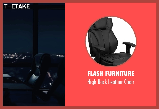 Flash Furniture black chair from Paper Towns seen with Cara Delevingne (Margo Roth Spiegelman)